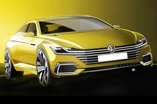 大众全新概念车设计图发布 或为新CC雏形