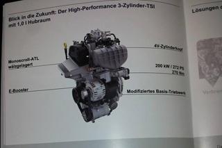 大众发布高性能版1.0T发动机 200kW/270Nm