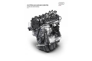 奥迪新2.0T发动机发布 百公里油耗低于5L