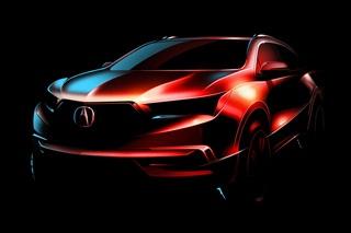 全新讴歌MDX渲染图曝光 将于纽约车展发布