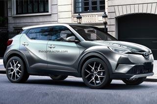 丰田C-HR量产版假想图 未来国产/或搭1.2T
