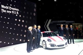 保时捷911 R亮相日内瓦车展 限量991台