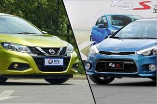 日产骐达对比起亚K3S 10万合资居家两厢车