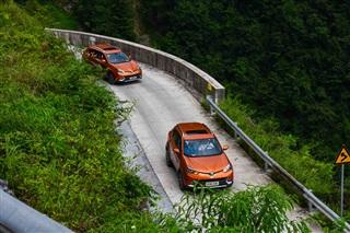 SUV也能轻松跑山 名爵锐腾挑战壁挂公路