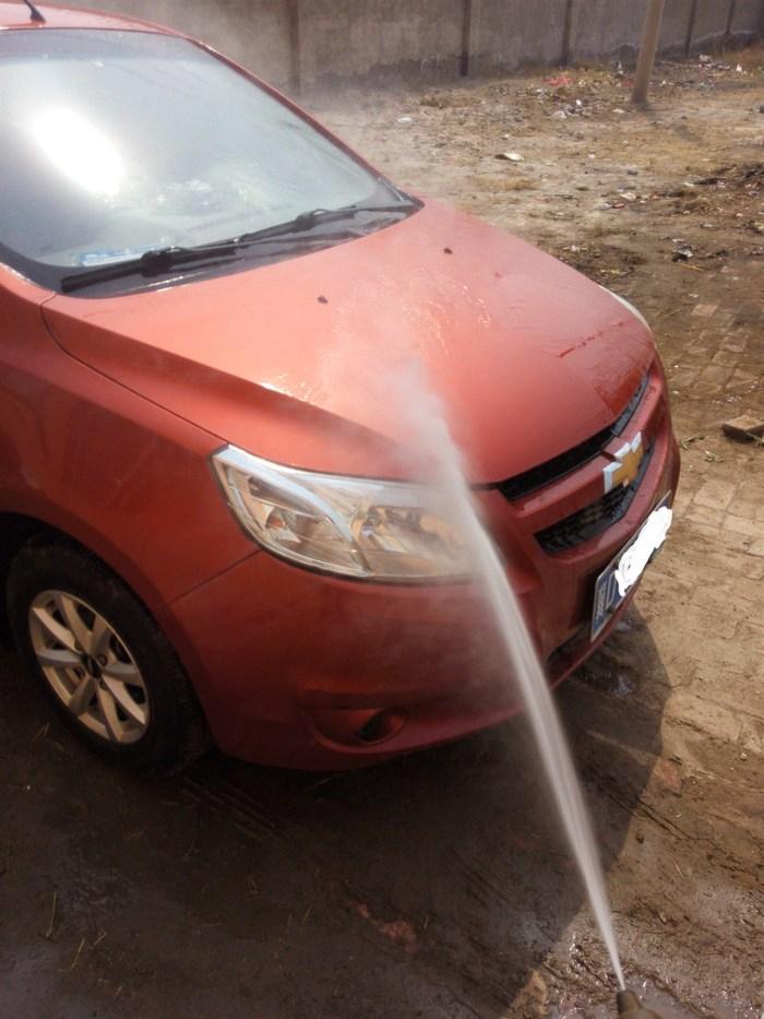新赛欧之自己洗车不容易高清图片