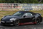 保时捷911 Turbo敞篷版的测试谍照曝光
