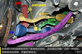 新荣威550底盘解析 注重安全与维修成本