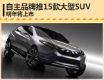 自主品牌集中推15款大型SUV 明年将上市