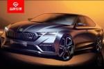 斯柯达明锐RS iV设计草图发布 将于日内瓦车展首发