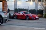 曝保时捷Cayman GT4实车 日内瓦车展首发
