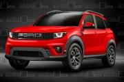 福特全新SUV假想图 造型比翼虎硬朗/全新福克斯平台打造  ?