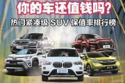 奇骏/CR-V/哈弗H6/博越/CS75 紧凑级SUV保值率排行
