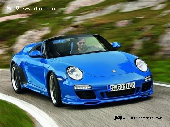 911主站色_外观方面,保时捷特别为911 speedster提供了一款特别的天蓝色车漆