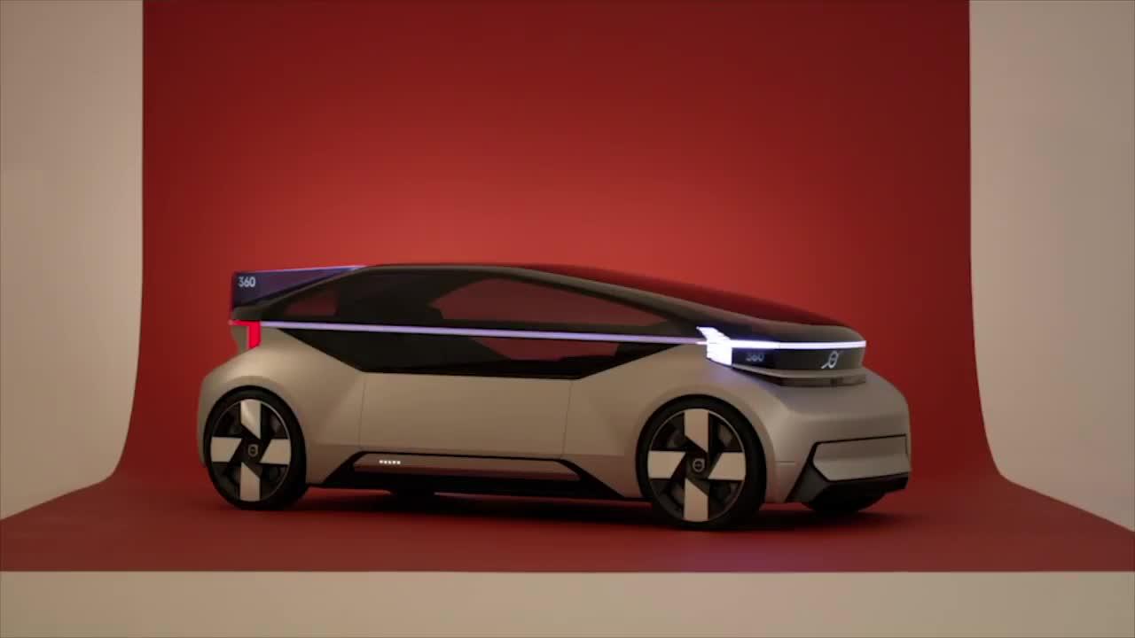 新级别的豪华自驾驶汽车!2019沃尔沃360c概念车