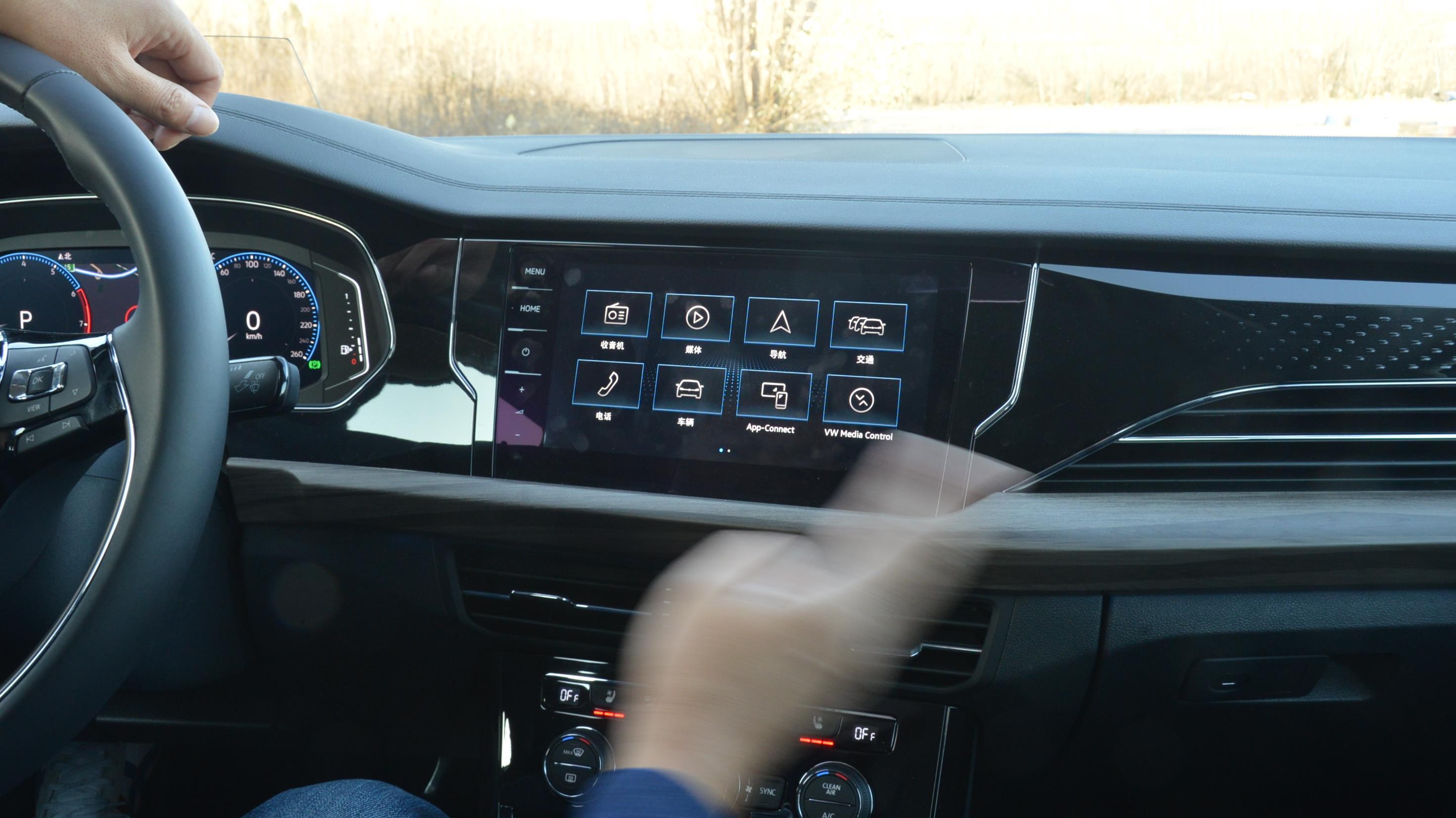 上汽大众帕萨特330TSI中控屏幕手势控制