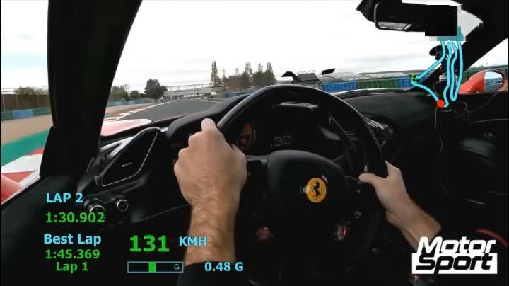法拉利488 Pista的圈速到底有多快?圈速快到令人害怕