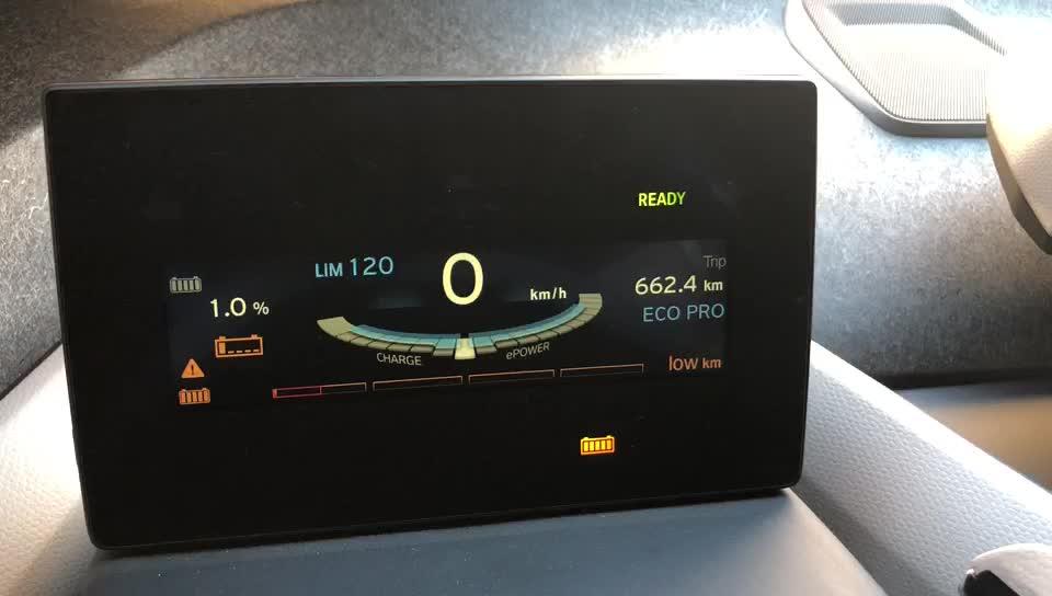 宝马i3低电量车辆状态