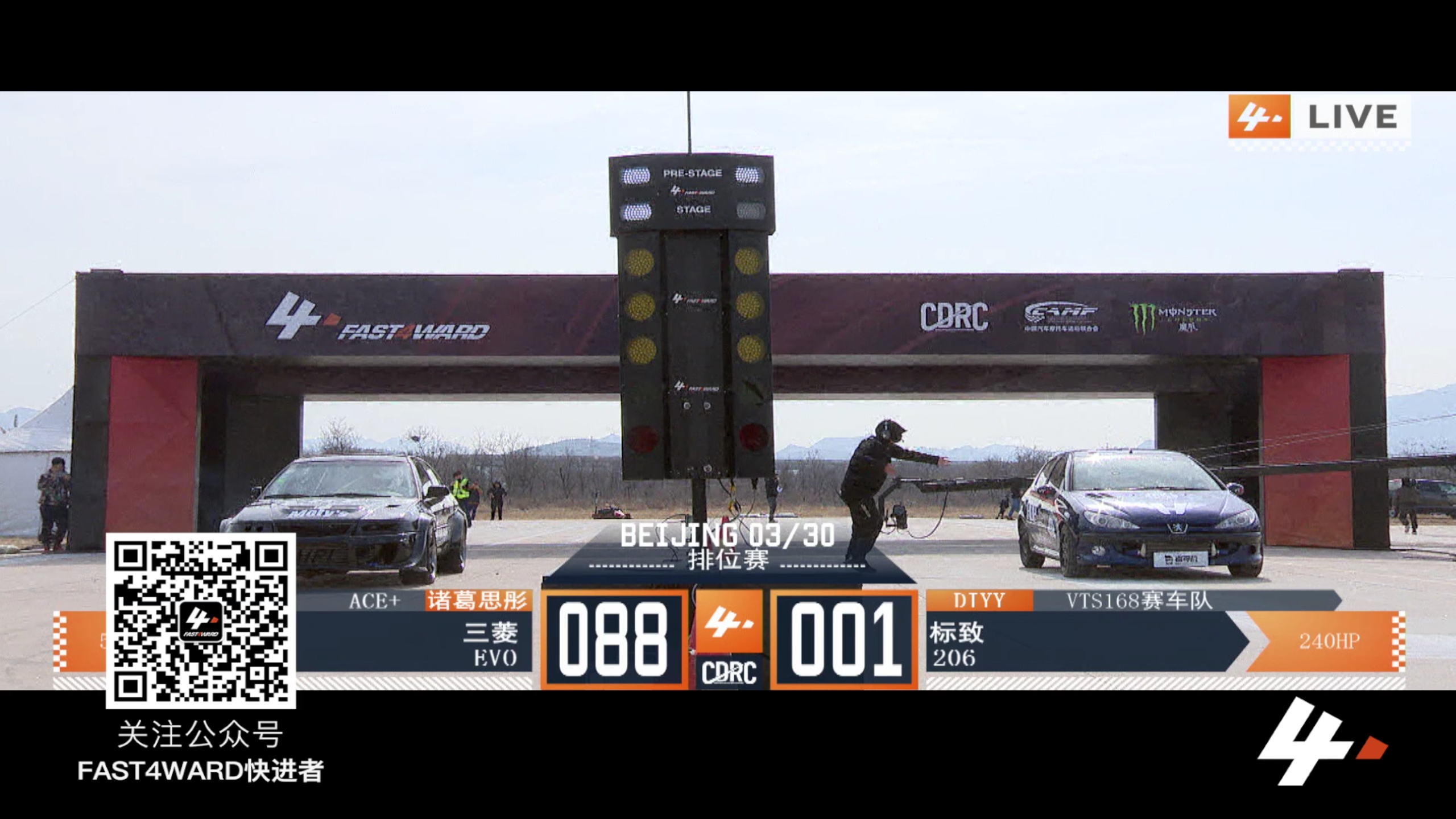FAST4WARD  北京站 三菱ev0  vs 标志206