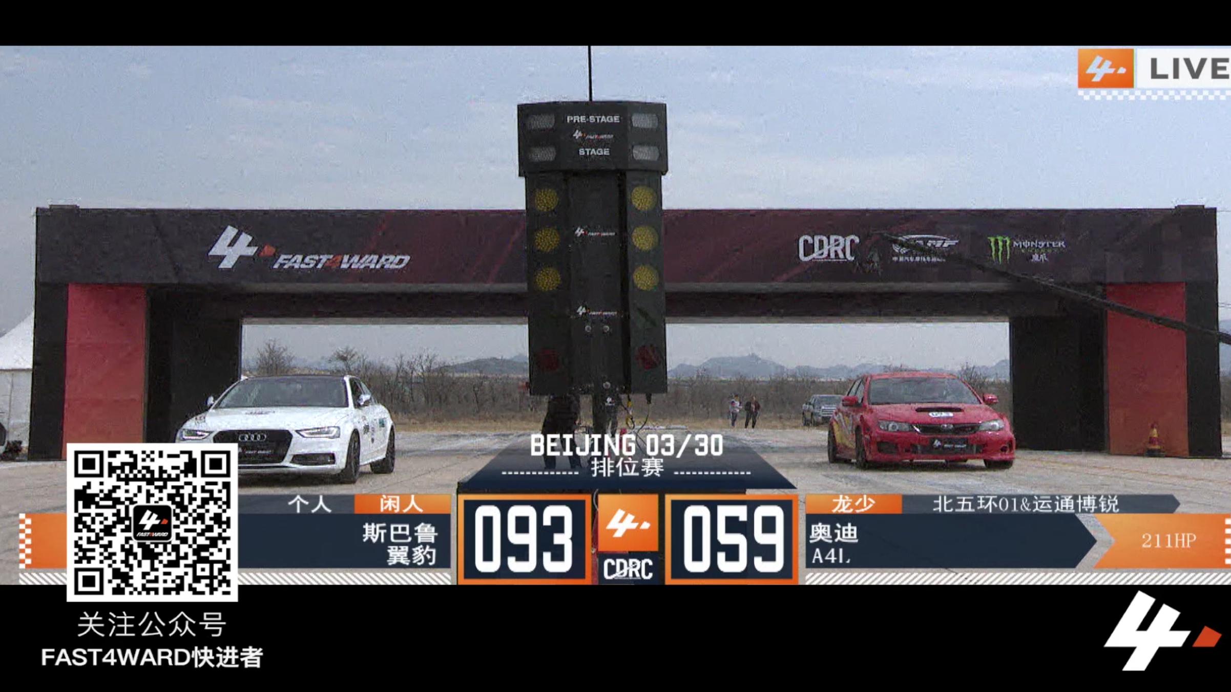 FAST4WARD  北京站 斯巴鲁翼豹 vs 奥迪a4l