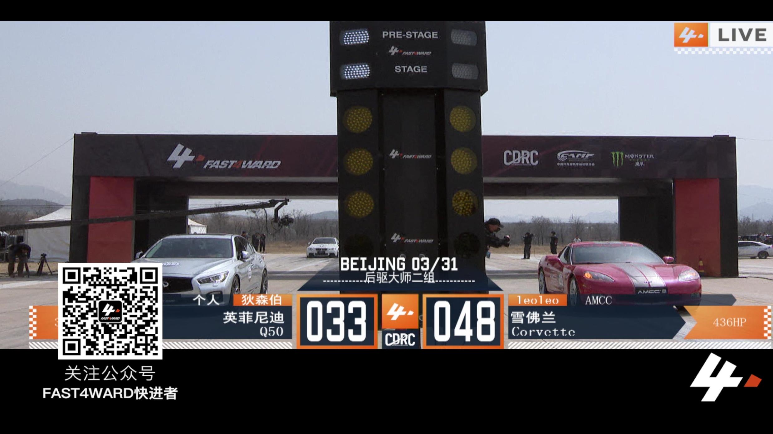 FAET4WARD  北京站 英菲尼迪q50 VS 雪弗兰corvette