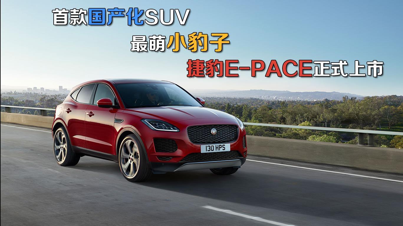 首款国产化SUV 最萌小豹子 捷豹E-PACE正式上市