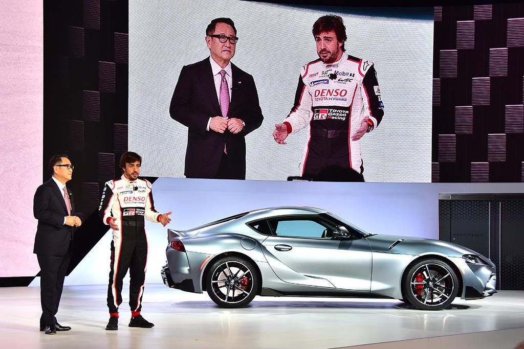 阿隆索也为它站台 北美车展现场直击全新丰田Supra