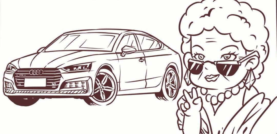 画汽车-价格差不多 奥迪A4L 和进口A5 老妈会选谁