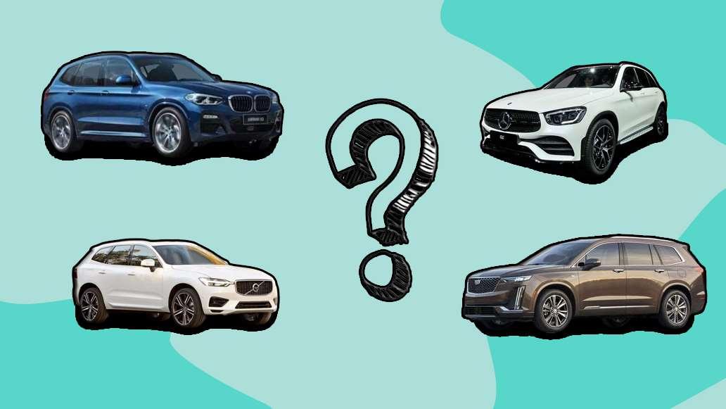 30多万豪华品牌SUV大对决,GLC/X3/Q5L/XC60和XT5,那个更值?