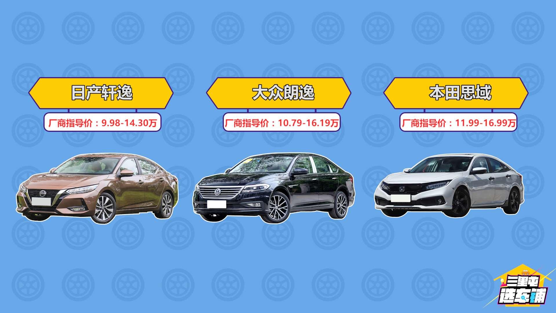 三里屯选车铺:小叄为你推荐三款15万价位,热门合资紧凑车型