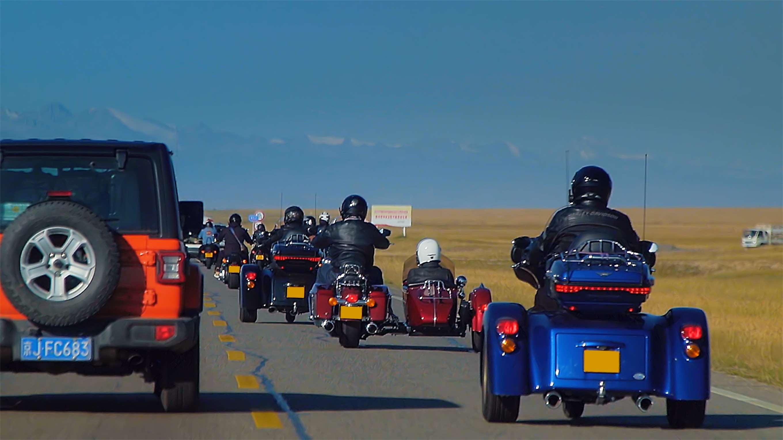 《最燃之路》独库公路第三集!80多万的哈雷摩托车,我遇到了一群