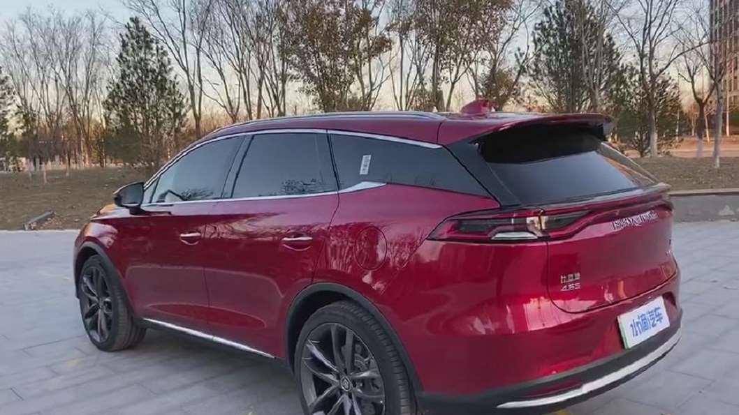 新车抢鲜看:比亚迪唐EV600外观区分,D柱设计辨别EV和燃油版