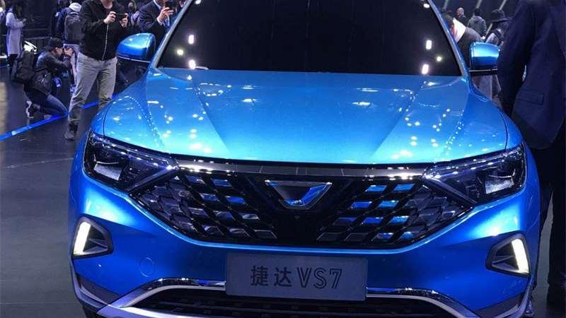 捷达品牌三款新车发布 A+级SUV-VS7实拍来