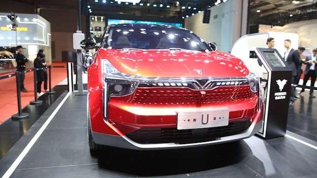 上海车展上最美的一款纯电动SUV,合众U让你过目难忘