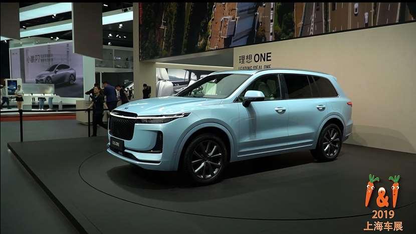 2019上海车展:增程式电动车理想one,baby blue限量