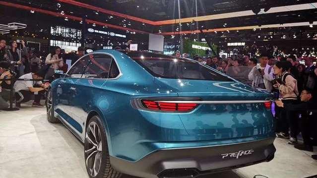 吉利PREFACE上海车展全球首发亮相,科技感超强