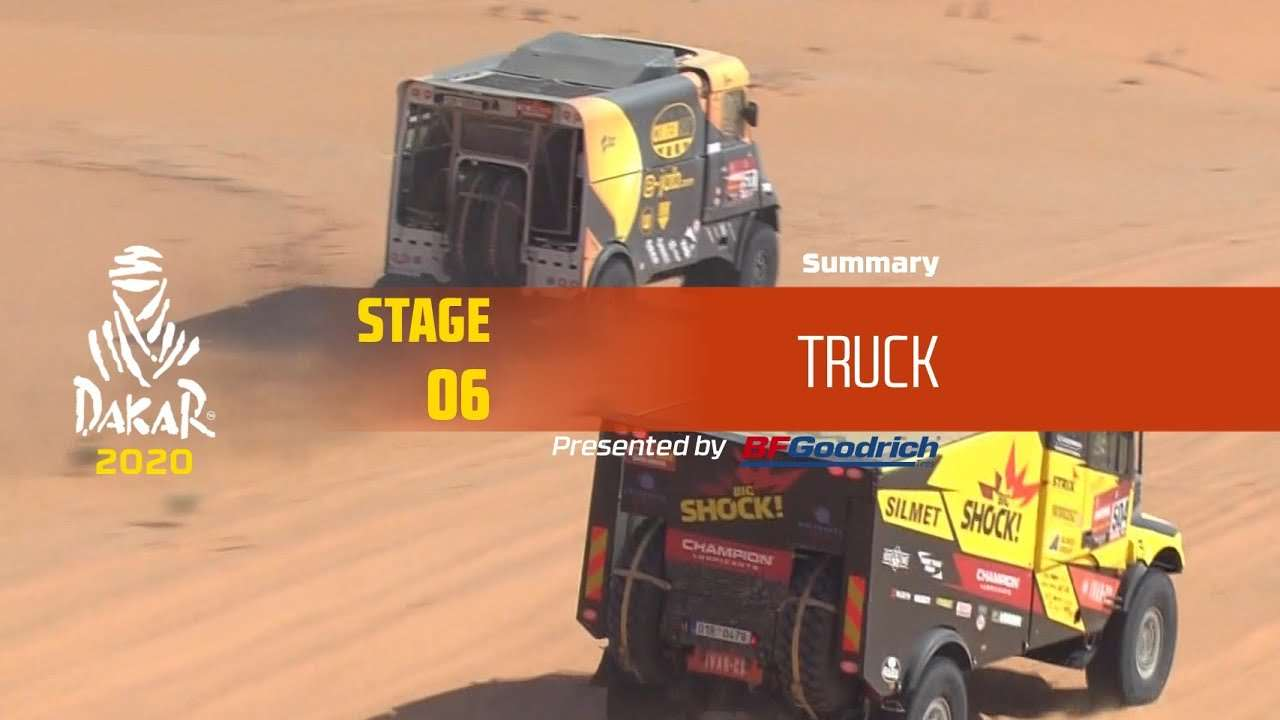 【视频】达喀尔 Dakar 2020!Stage 6 卡车组精华