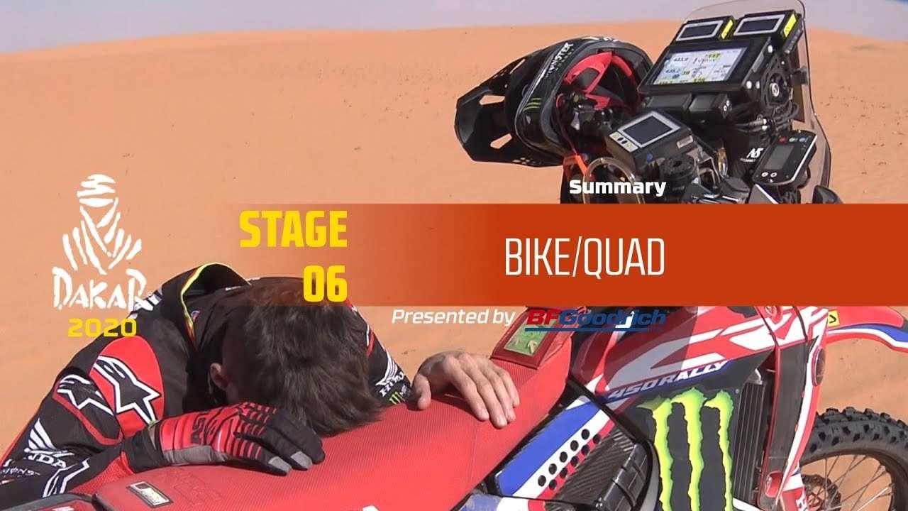【视频】达喀尔 Dakar 2020!Stage 6 摩托/Quad 组精华