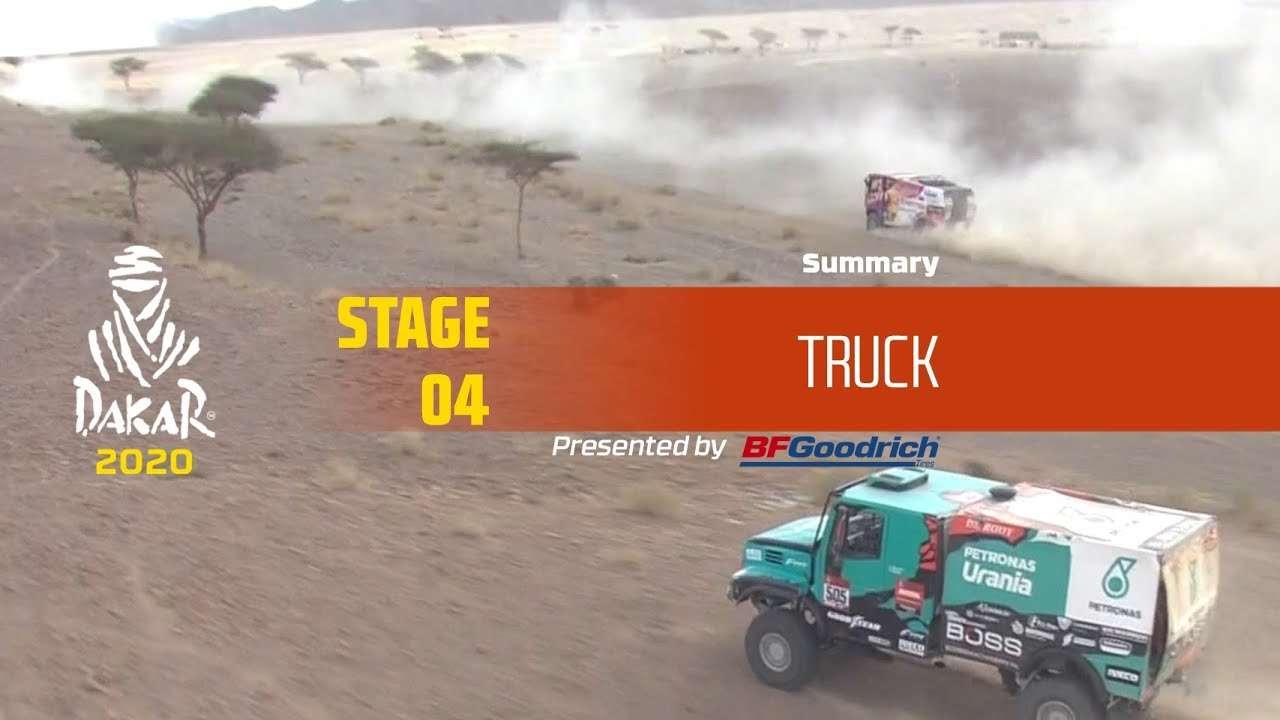 【视频】达喀尔 Dakar 2020!Stage 4 卡车组精华