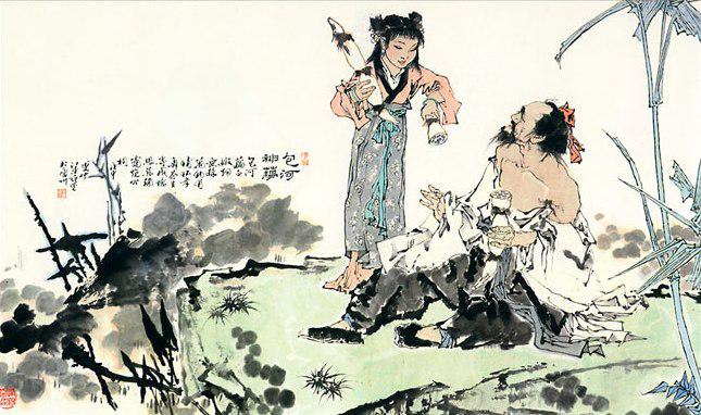 自明清以来,中国的人物画多以工笔为主.