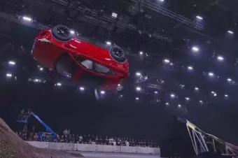 捷豹E-PACE新车发布会,翻了个大跟头!