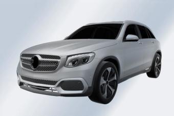奔驰首款长轴版SUV专利图曝光 有望明年上市