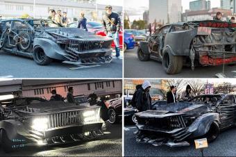 这位本田车主竟然打造了一辆最变态的末日战车!
