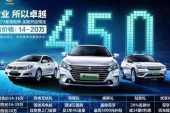 比亚迪2018款纯电动车预售价14-20万元
