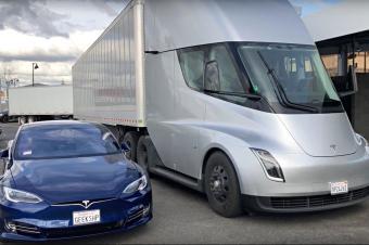 特斯拉电动卡车首运,城市中为什么需要电动工作车