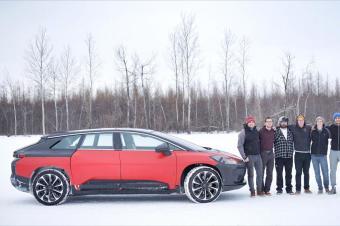 法拉第FF91冬季首测,200万电动车今年难上市