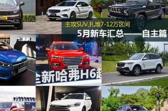 主攻SUV,扎堆7-12万 5月上市新车回顾汇总——自主篇