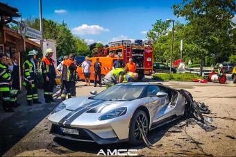 福特GT新车自燃,现场惨不忍睹!究竟是怎么了?