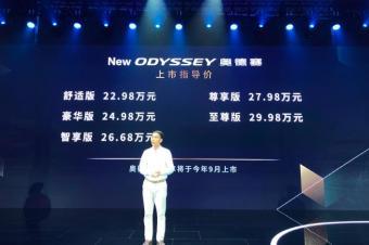 新款本田奥德赛正式上市!22.98万起售你会考虑吗?
