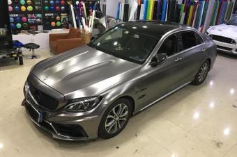 奔驰AMG全车改色贴膜案例电光棕灰汽车改色贴膜