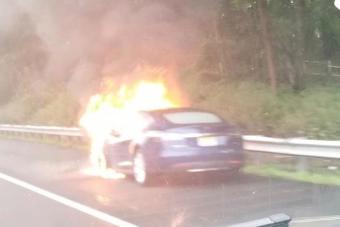 特斯拉Model S高速公路上起火,车主发现火灾原因却很高兴